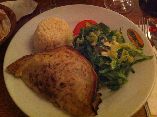 Bistro 1 - Frith Street: Stuffed pancake (with goats cheese and spinach)