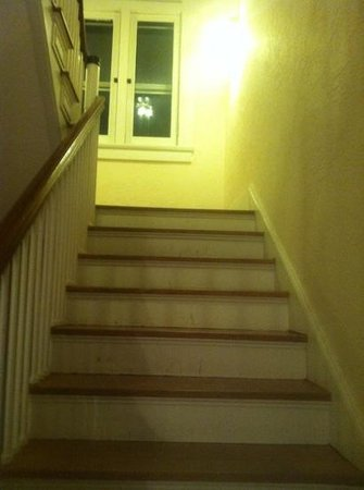 Robinwood Bed and Breakfast: stairs to upper floor