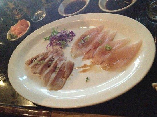 Tsunami Sushi:                   Salmon/ Marlin