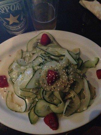 Tsunami Sushi:                   Cucumber salad