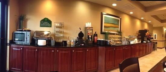 Holiday Inn Express & Suites Mobile West I-10:                   breakfast buffet