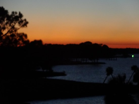 Sandestin Golf and Beach Resort: view at sunset from our balcony...the bay