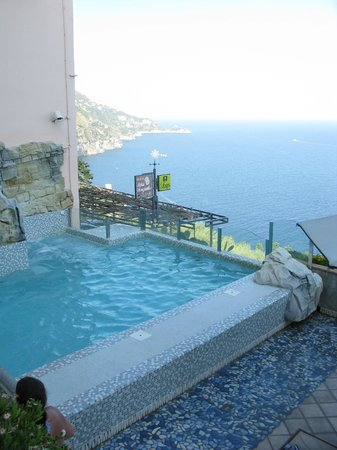 Hotel Margherita:                   An overhead view of the small pool.