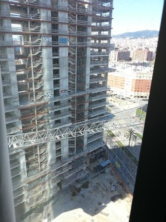 Melia Barcelona Sky:                                                                         View through the window