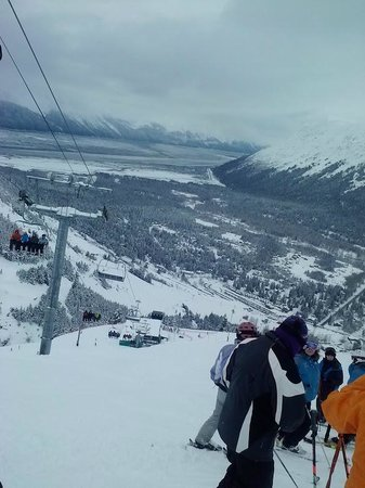Hotel Alyeska: View of the Turnagain Arm from top of mountain