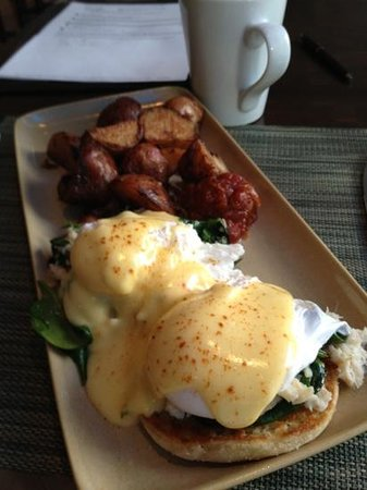 Hyatt At Olive 8:                   Urbane's Crab Benedict