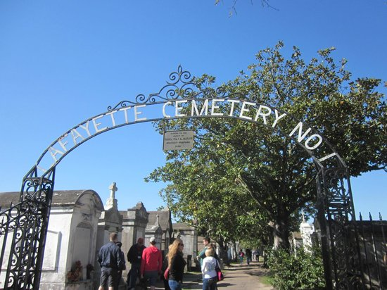 Save Our Cemeteries: Main gate to Lafayette Cemetery.  Across from Commander's Palace restaurant in Garden District.