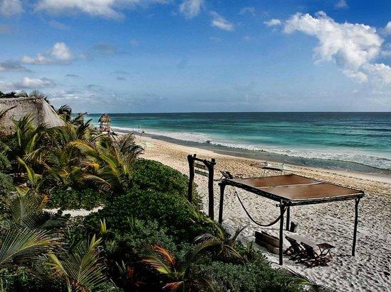 Nueva Vida de Ramiro: View of the beach from Horizonte Perdido Suite