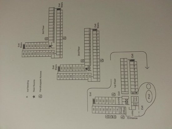 Hampton Inn Las Vegas/Summerlin : Floor Layout - note 2 larger rooms on top 2 floors