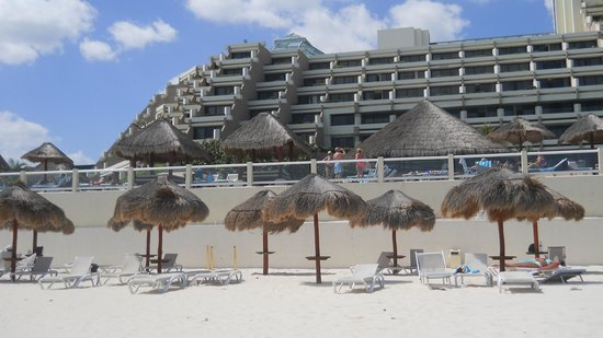 Paradisus Cancun:                   Paradisus from the beach