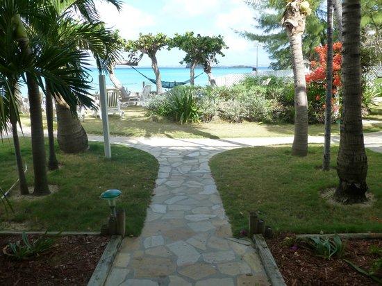 Grand Case Beach Club:                   walkway to beach