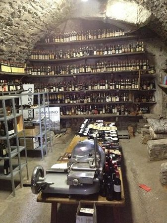 Hotel Terzo Crotto: Wine storage in historic grotto in cellar!