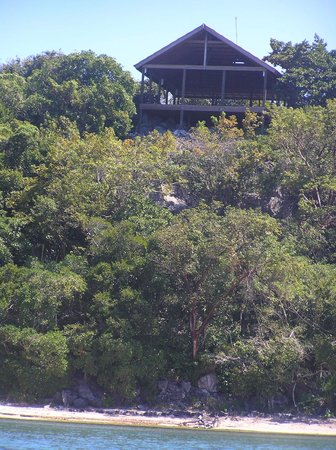 Paya Bay Resort: Ananda Pavilion offers panoramic views of treetops, ocean and sunset