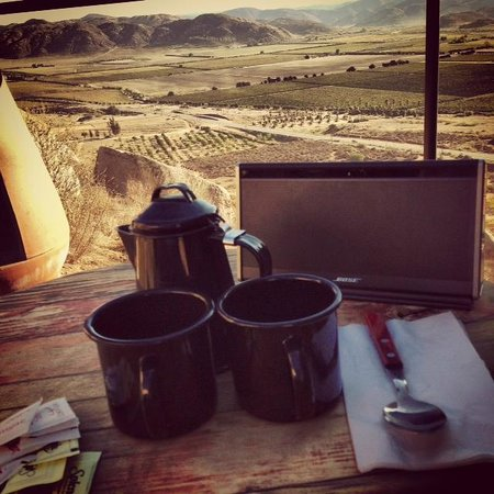 Encuentro Guadalupe : Morning Coffee with a View from our Balcony