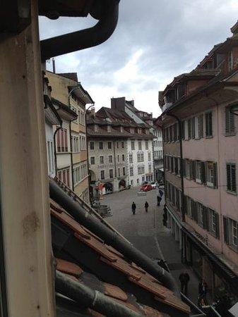 Hotel Pension Rösli: street view from loft apt