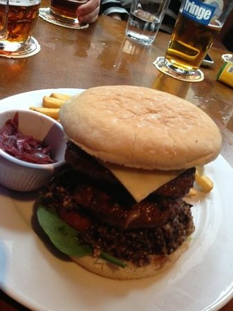 Greenmantle Bar & Kitchen:                   Haggis, bacon, cheese...and two burgers!