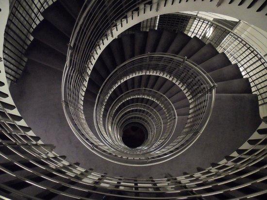 Hilton Reykjavik Nordica:                   Spiral Staircase