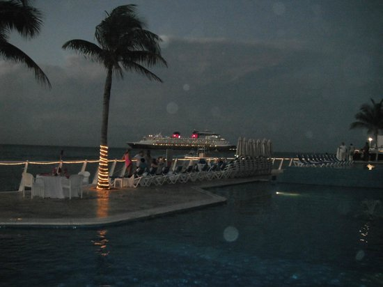 Cozumel Palace:                                     Night shot around the pool