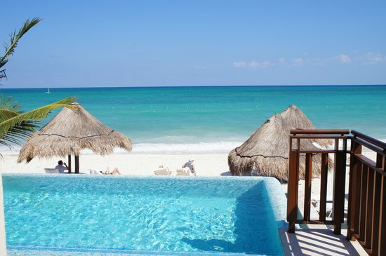 Fairmont Mayakoba :                                     Personal Pool on the beach