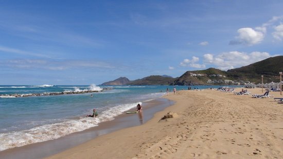 St. Kitts Marriott Resort & The Royal Beach Casino:                                     The Beach but pools are safer for swimming