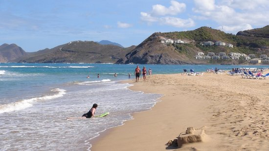 St. Kitts Marriott Resort & The Royal Beach Casino:                                     The Beach sea can be quite rough