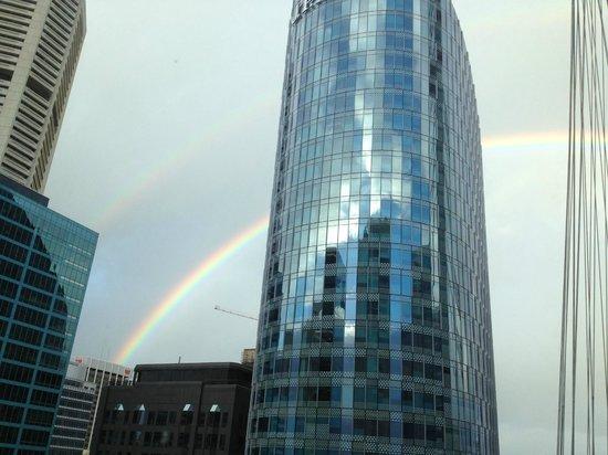 Swissotel Sydney:                                     Rainbow from room window