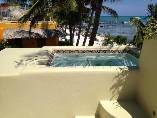 Seaside Cabanas:                                     rooftop hot tub
