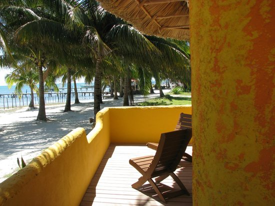 Seaside Cabanas:                                     front deck