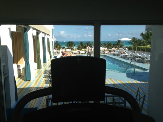 ‪‪The Hotel of South Beach‬:                   View of pool from Fitness/Gym area