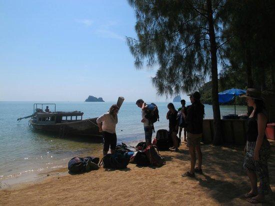 Koh Yao Beach Bungalows: arriving on Koh Yao Noi