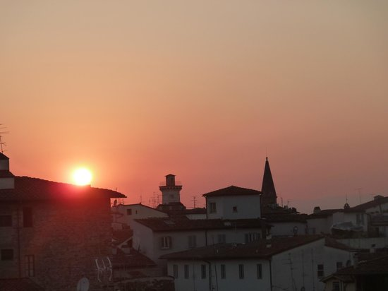 Grand Hotel Cavour:                   Sunset from Rooftop bar