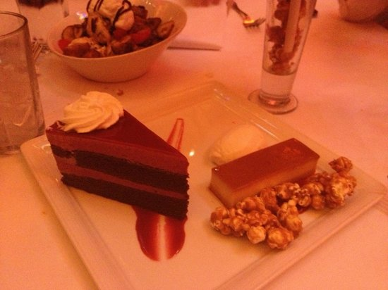 Carnivale:                   Red Velvet and flan, part of the Big Top dessert