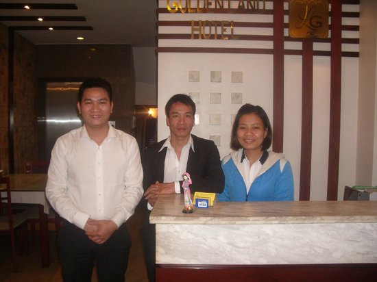 Golden Land Hotel:                   The very friendly staff - Danny, Mr. Loun (cook) & Tran-Ang (Reception)
