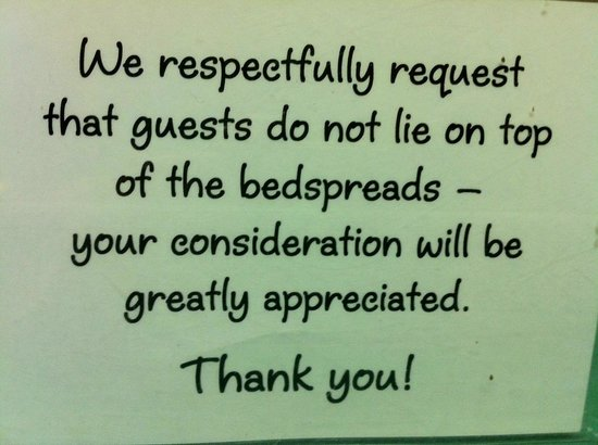 Wonboyn Cabins & Caravan Park:                   Interesting notice.