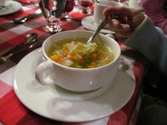 Hacienda Manteles:                                     soup