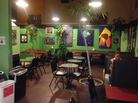 Inside the epic cafe
