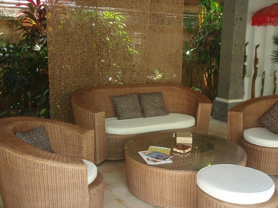 The Buah Bali Villas:                   Our Outdoor Lounge