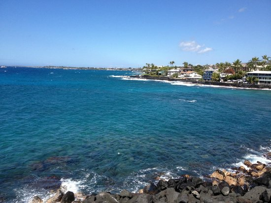 Sea Village Resort:                   Looking toward town from the lanai