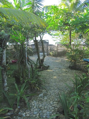 Mayoka Boutique Hotel:                   Walkway to the beach!