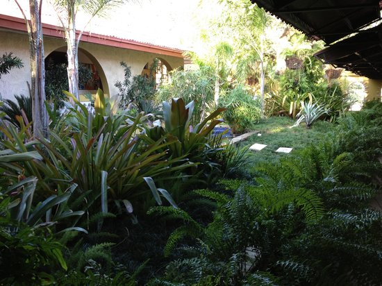 Entrance garden picture of ibo lele petionville for Garden pool haiti