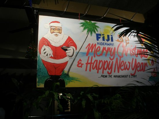 Fiji Hideaway Resort & Spa:                   Christmas Eve Dinner