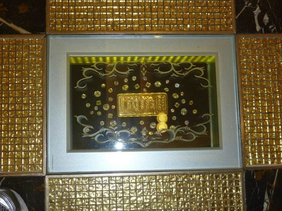 Grand Emperor Hotel:                   1kg bar of gold in the hotel floor