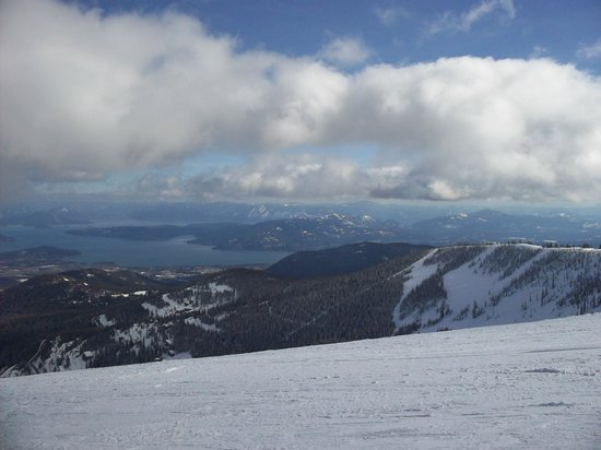 Schweitzer Mountain:                   One of the views from the top.