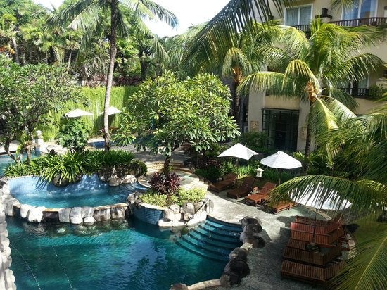 Kuta Paradiso Hotel:                   pool view from top