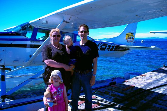 Taupo's Floatplane:                   Taupo Floatplane at wharf
