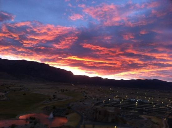 Sandia Resort & Casino:                   view just prior to sunrise of the Sandia Mts from our room