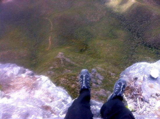Stirling Range National Park:                   from the top looking over the edge, be careful!