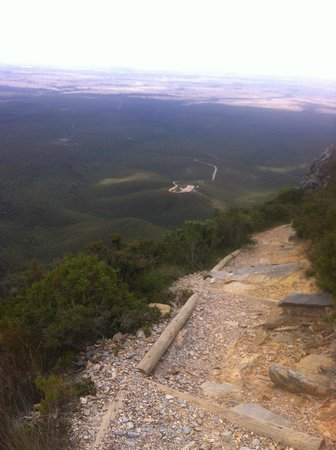 Stirling Range National Park:                   The trek down, with the carpark in view