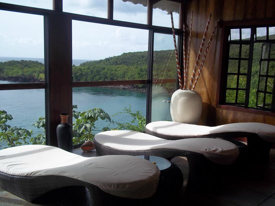 Ti Kaye Resort & Spa:                   View from inside spa