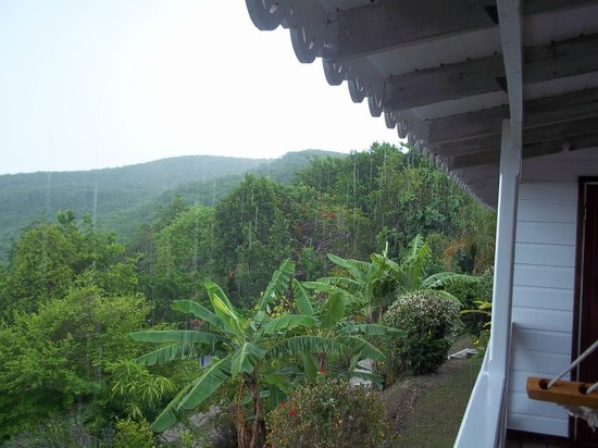 Ti Kaye Resort & Spa:                   View of mountains from our porch